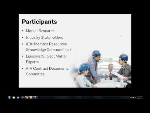 AIA Contract Documents 2017 Release: General Overview