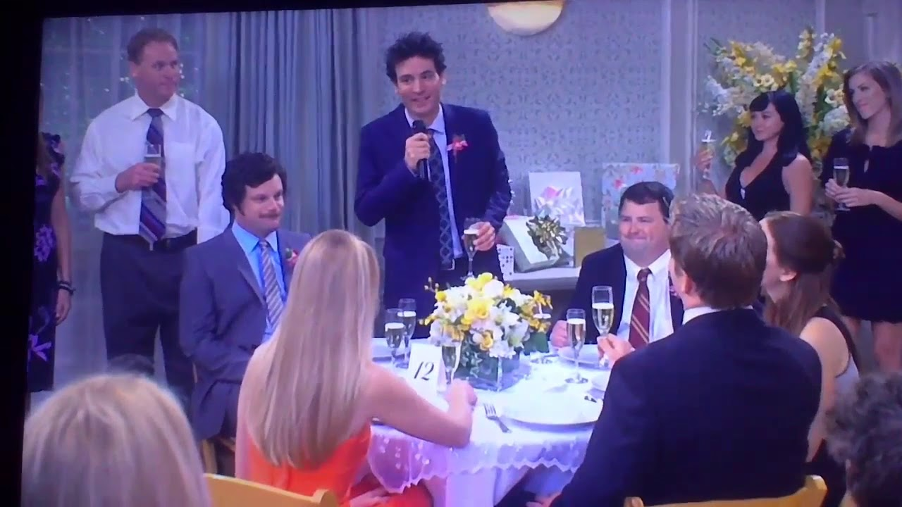Ted Mosby Wedding Toast