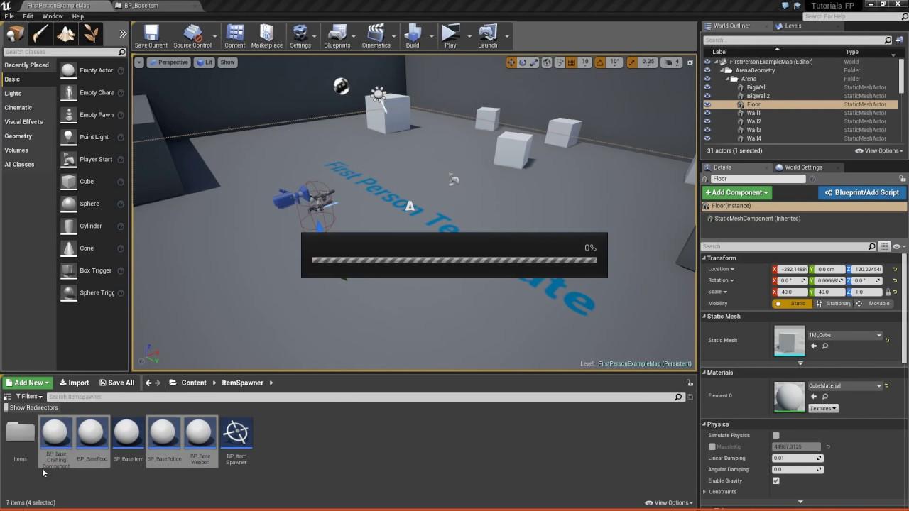 Unreal engine 4 creating an item spawner youtube malvernweather Choice Image