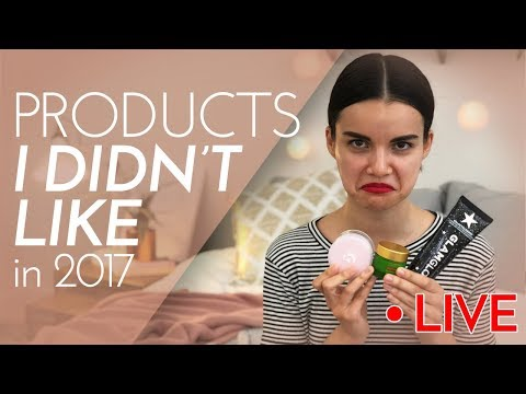 Products I DIDN'T Like in 2017 LIVE  Ingrid Nilsen
