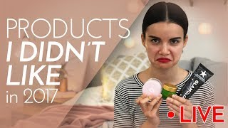 Products I DIDN'T Like in 2017 (LIVE) | Ingrid Nilsen