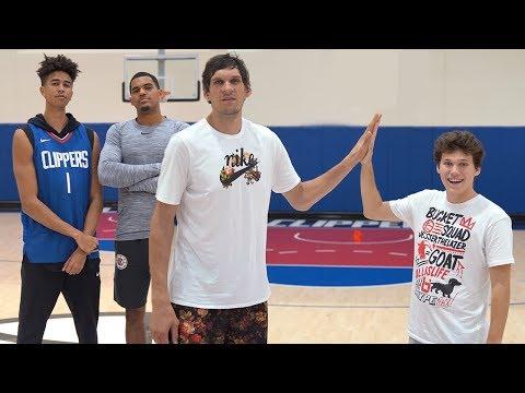 3-Point Basketball RACE Challenge vs. LA Clippers & Jesser