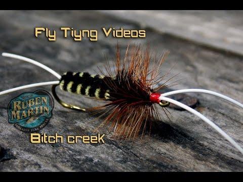 Bitch creek Fly tying instructions by Ruben Martin