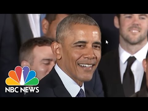 President Barack Obama's Best Jokes During Meeting With Chicago Cubs | NBC News