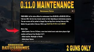 Maintenance Break Pubg Mobile 0.11.0 Update is Here | No New Gun