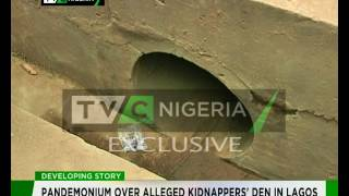 Exclusive : Pandemonium Over Alleged Kidnappers' Den In Lagos Part 1