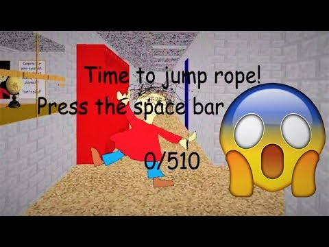 PLAYTIME MAKES ME JUMPROPE 510 TIMES!!! | Baldi's Basics MOD: Chaos Edition