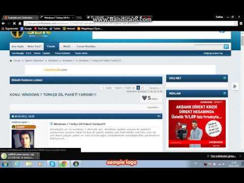 (windows 7 Starter) Türkçe Dil Yapma