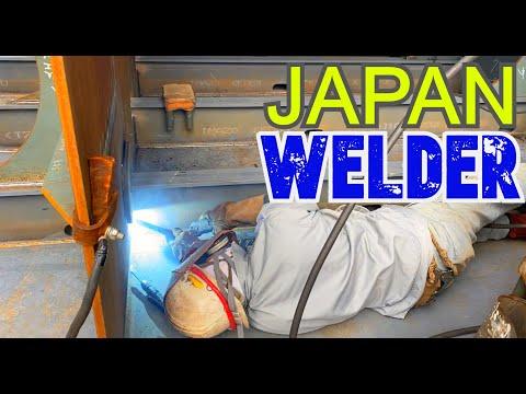 JAPAN WELDER SHIPBUILDING 4K