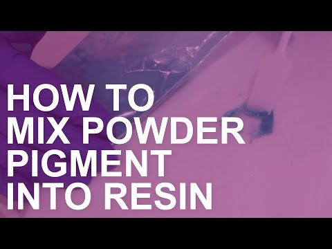 How to Mix Powder Pigments into Resin