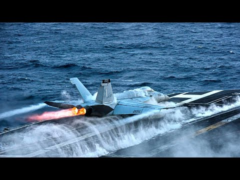 Striking Video: U.S. Navy During Conduct Flight Deck Operations Aboard The Aircraft Carrier