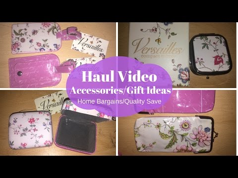 Haul Video Gift Ideas/Acessories - Home Bargains/Quality Save