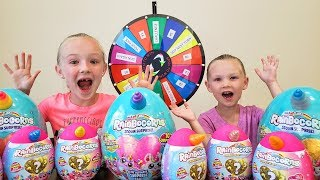 Mystery Wheel Challenge Opening Rainbocorn Sequin Surprise Eggs!