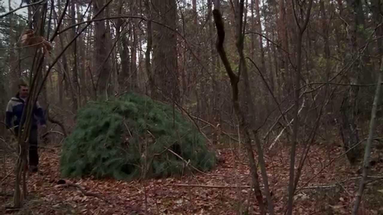 Построил хижину в лесу своими руками