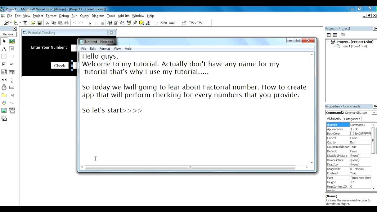 factorial checking in vb 6 0 youtube rh youtube com msdn visual basic programming guide visual basic programming guide pdf