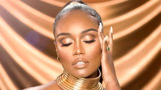 24K GOLD Makeup Tutorial // PAINTEDBYSPENCER