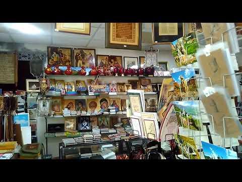 Очень хороший магазин сувениров в храме Рипсиме, май 2019, Армения