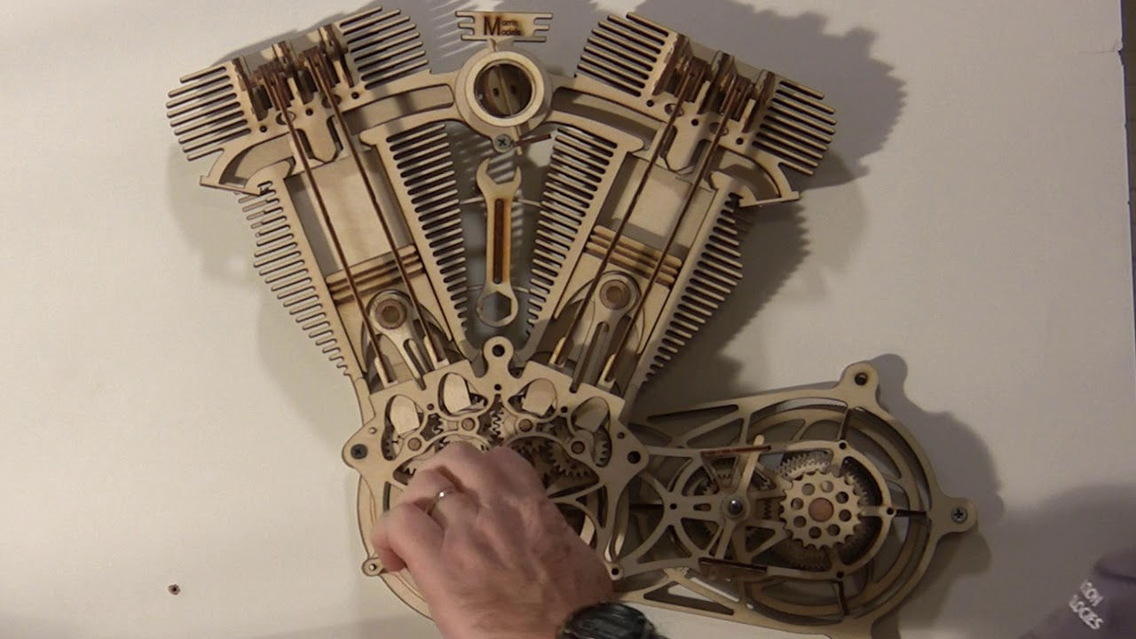 Museum Quality Moving Engine Art - Laser Cut Kits by Don