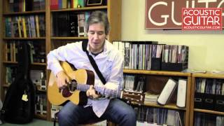 Peter Huttlinger performs The Happy Moat/The Flowers Of Edinburgh at the Acoustic Guitar office