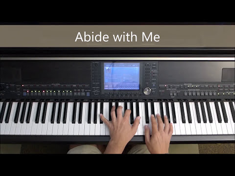 Abide with Me - piano instrumental hymn with lyrics