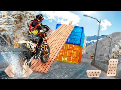 Snow Mountain Bike Racer Stunt 2019 - Motor Racing Stunts Simulator Android Gameplay