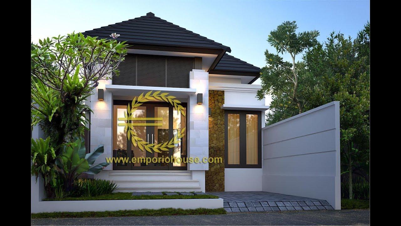Paket Produk Desain Rumah 1 Lantai 3 Kamar Tidur Lebar Depan 7 M Panjang 14 5 M Youtube