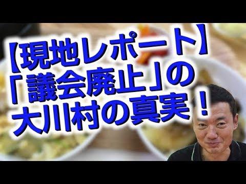 現地レポート:「議会廃止」で揺れる高知県・大川村の真実!