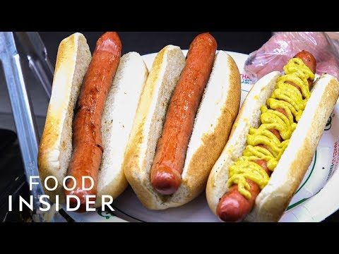 How Nathan's Makes The Most Legendary Hot Dogs In NYC   Legendary Eats