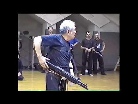 Soke Masaaki Hatsumi shows defence about gun (Bujinka Ninpo )