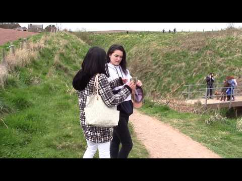 Day trip to Dunnottar Castle. Scotland. April 2017