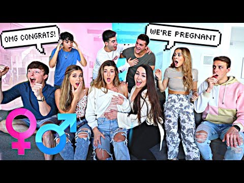 TELLING OUR FRIENDS WE'RE PREGNANT...
