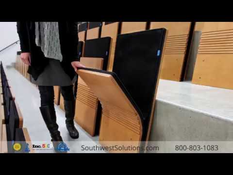 Fold-Up Auditorium Wall Seating & Space Saving Folding Chairs