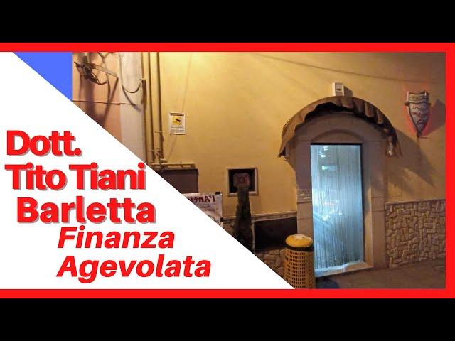 COMMERCIALISTA BARLETTA TITO TIANI - FINANZA AGEVOLATA STUDIO TIANI - ANTICO FORNO