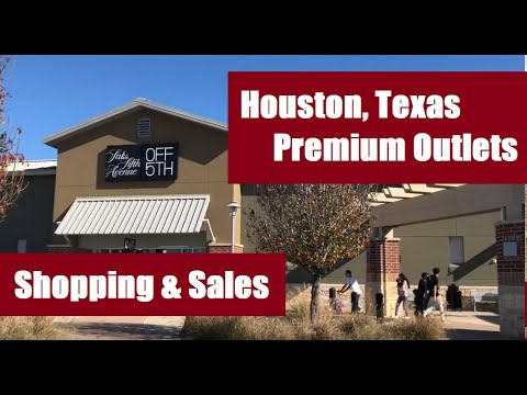 Houston, Texas Premium Outlets: Walkaround, Shopping, Sales, And Prices