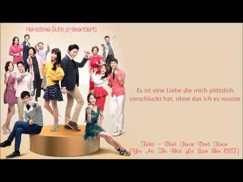[HD] Tahiti - Molla Molla (You're the Best Lee Soon Shin OST) [German Subs]