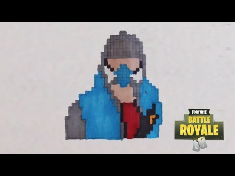 Comment Dessiner Le Tagueur De Fortnite Pixel Art Youtube