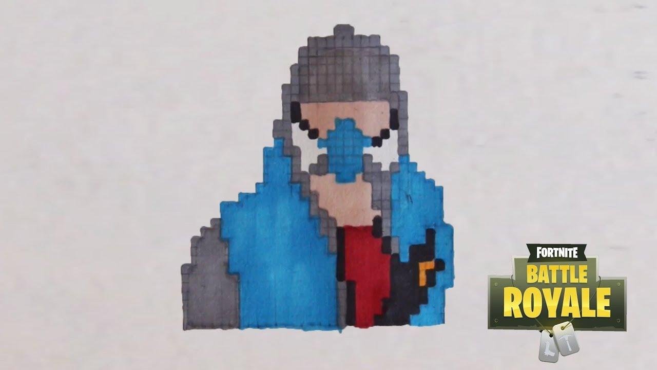 Comment Dessiner Le Tagueur De Fortnite Pixel Art