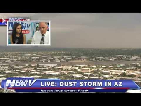 FNN: Dust Storm Passes Through  Phoenix, Bernie Sanders Campaign Event, Biden Speaks in Atlanta