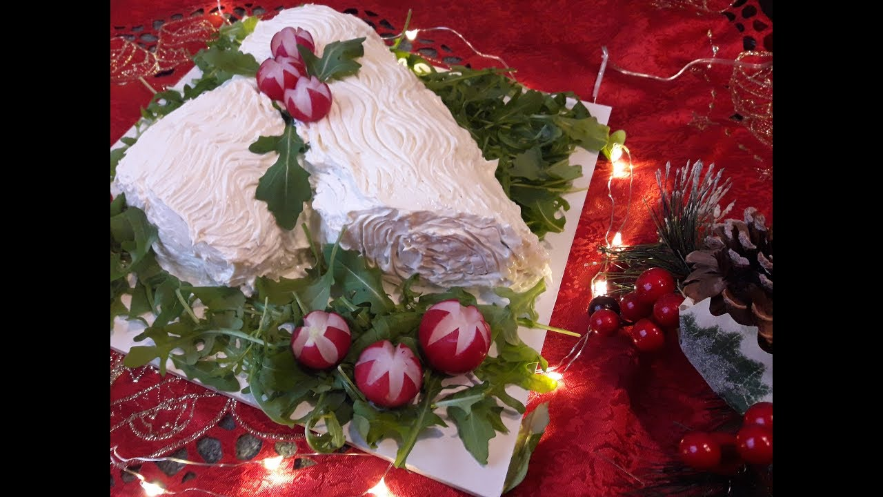 Tronco Di Natale Youtube.Tronchetto Salato Di Natale Fresco Leggero E Saporito