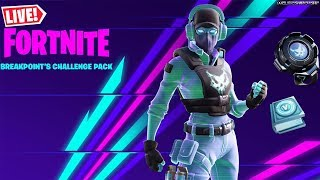 🔴 *NEW* BREAKPOINT'S CHALLENGE SKIN PACK NOW OUT!!! (FORTNITE LIVESTREAM)