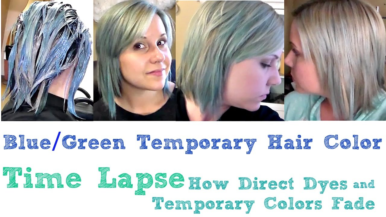 BlueampSilver Temporary Hair ColorDirect DyeFading Time