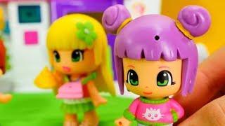 Куклы Пинипон устроили Барбекю. Мультики для девочек