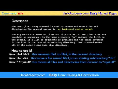 mv move, rename Linux UNIX command Easy Man Manual pages by UNIX ...