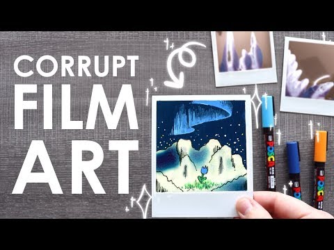 DRAWING ON CORRUPTED FILM - A Polaroid Blob Challenge