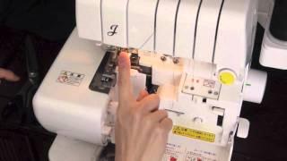 ロックミシンの糸交換作業【自動糸通し】ジューキ 糸取物語 BL65LV thumbnail