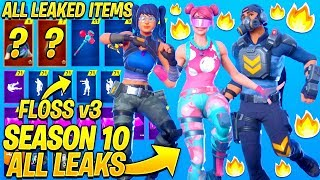 *NEW* All Leaked Fortnite Season 10 Skins & Emotes..! *Floss v3* (Windmill Floss, Jaywalk)