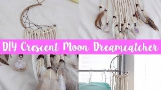 DIY Crescent Moon Dreamcatcher