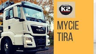 Mycie samochodu ciężarowego, ciężarówki, TIRa - myjnia TIR, chemia myjniowa K2 Pro