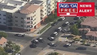 Officer Shot by Possible Sniper in Lancaster, CA - LIVE COVERAGE