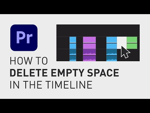 How to delete empty space in the timeline